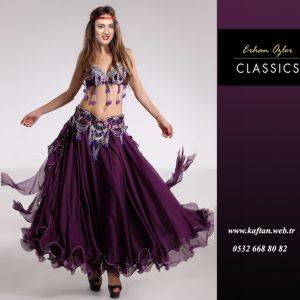Püsküllü Mor Dansöz Elbisesi