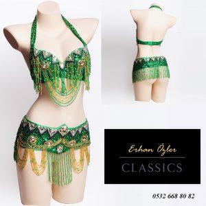 Zümrüt Yeşil Dansöz Elbisesi