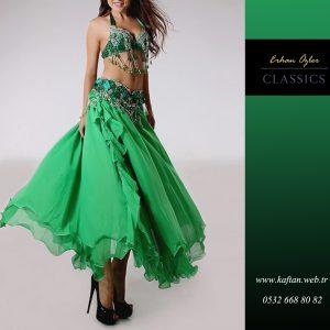 Zümrüt Yeşili Dansöz Kıyafeti