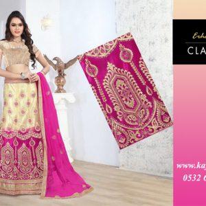 Pembe Krem Hint kıyafeti