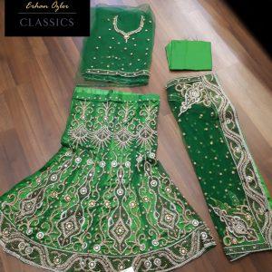 Zümrüt Yeşili Hint Kıyafeti