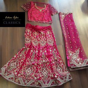 Hint Kına elbisesi fuşya