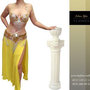 Gold Oryantal Elbise