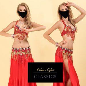 Kırmızı Oryantal Kıyafeti